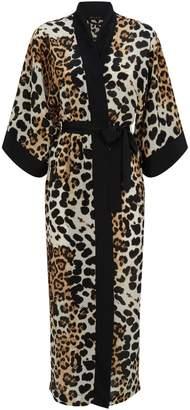 Shan Leopard-Print Kimono