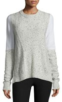 Rag & Bone Tamara Melange Cashmere Pullover Sweater, Light Gray