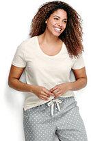 Classic Women's Plus Size Short Sleeve Sleep T-Shirt-Soft White