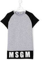 MSGM logo print T-shirt - kids - Cotton - 14 yrs