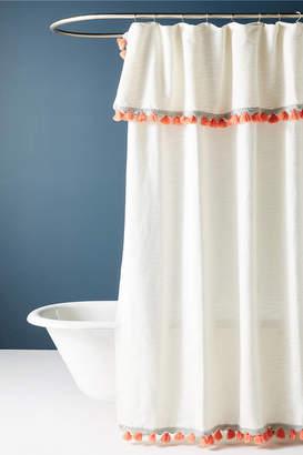 Anthropologie Tasseled Arden Shower Curtain