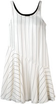 Giorgio Armani striped ruffle hem dress - women - Silk/Viscose - 38