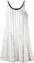 Giorgio Armani striped ruffle hem dress - women - Viscose/Silk - 38