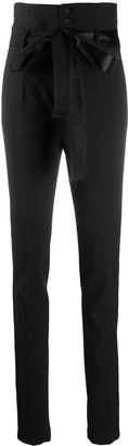 RED Valentino High-Waisted Slim-Fit Trousers