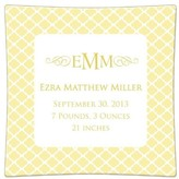 The Well Appointed House Chelsea Butter Personalized Birth Announcement Decoupage Plate-Available in a Variety of Sizes