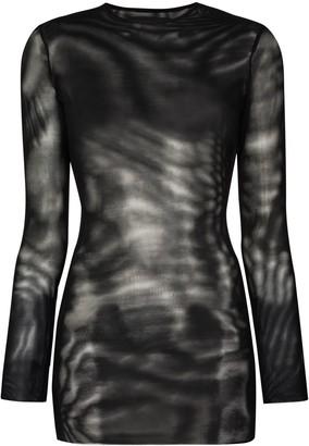 Louisa Ballou Split-Ring Mesh Dress