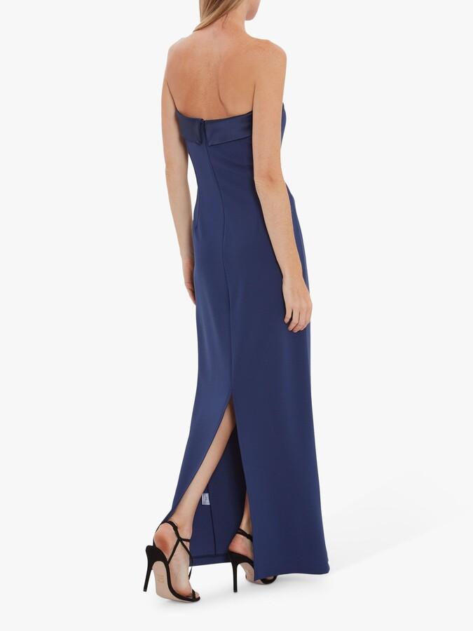 Thumbnail for your product : Gina Bacconi Maria Crepe and Satin Maxi Dress
