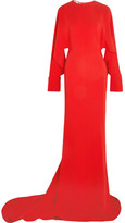 Stella McCartney Cutout Cady Gown - Red