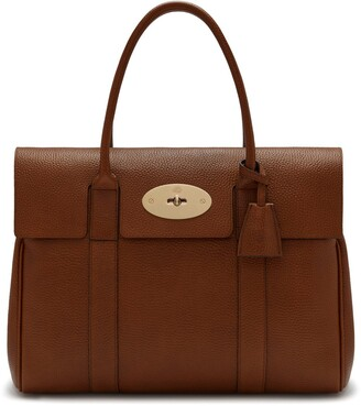 Mulberry Bayswater Oak Natural Grain Leather