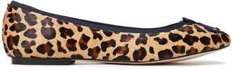 French Sole Lola Bow-embellished Leopard-print Calf Hair Ballet Flats