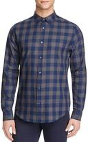 Vince Mélange Check Slim Fit Button-Down Shirt