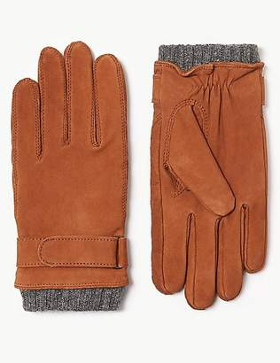 M&S Collection Leather Casual Gloves with ThermowarmthTM