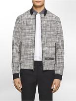 Calvin Klein Platinum Slim Fit Tech Print Bomber Jacket
