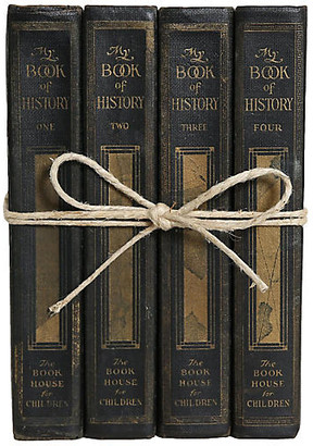 One Kings Lane Vintage Vintage My Book of History for Kids Gift - Booth & Williams - green