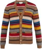 Gucci V-neck striped wool cardigan