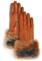 UGG Leather Tech Gloves with Shearling Sheepskin Cuff