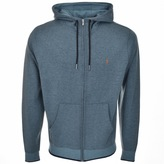 Farah Hicks Full Zip Hoodie Blue