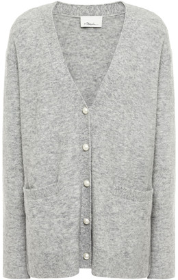 3.1 Phillip Lim Faux Pearl-embellished Brushed Knitted Cardigan