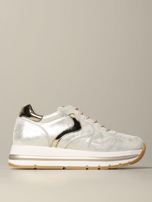 Voile Blanche Sneakers In Laminated Leather