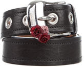 Miu Miu Embellished Leather Belt
