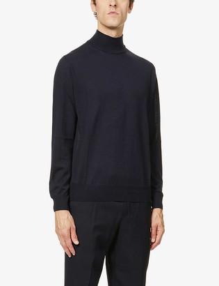 Canali Turtleneck slim-fit wool jumper