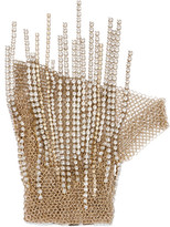 Lanvin Gold-tone Crystal Glove - L
