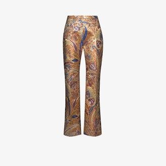 Paco Rabanne Paisley Print Trousers