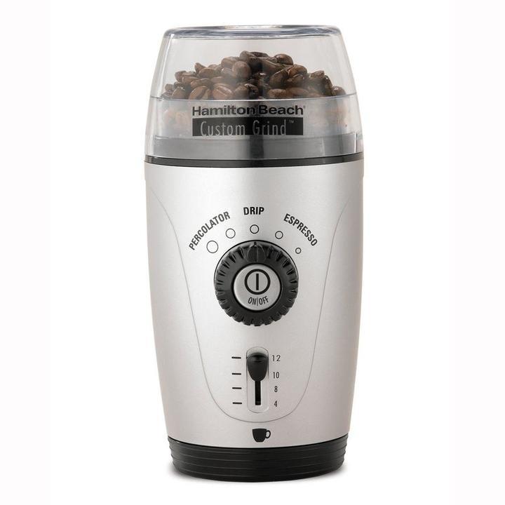 Hamilton Beach Custom Grind Hands-Free 12-Cup Coffee Grinder