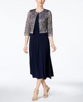Jessica Howard Petite Midi Dress And Lace Jacket