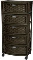 Oriental Furniture 5-Drawer Storage Chest