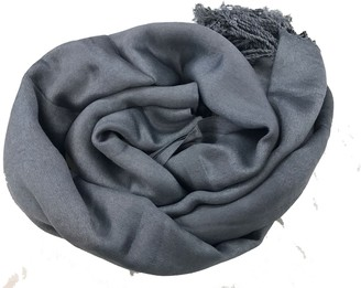 HAAS TRADING High Quality Pashmina Hijab Scarf Silk Satin Sateen Stole Neck Wrap Bride Shawls (Dark Grey)
