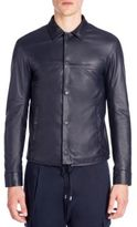 Emporio Armani Blouson Nappa Leather Shirt Jacket