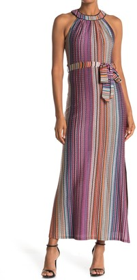 Trina Turk Speak Easy Halter Neck Maxi Dress