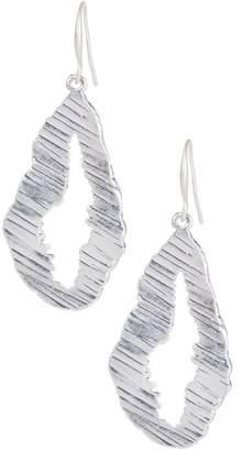 Saachi Ridge Silver Plated Metal Earrings