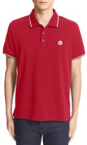 Moncler Men's Tipped Pique Polo