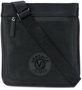 Versace logo patch shoulder bag