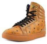 MCM High Top Men Leather Tan Fashion Sneakers.