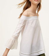 LOFT Lacy Bow Back Off The Shoulder Top