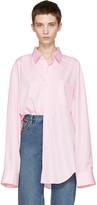 Vetements Pink Comme Des Garçons Edition Oversized 80s Shirt