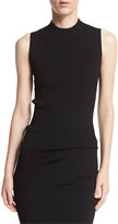 Vince Ribbed Long Tank, Black