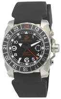 Wrist Armor Men's' Wrist Armor U.S. Marine Corps C3 Swiss Quartz GMT Watch - Black