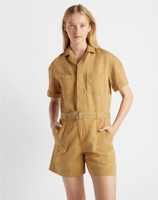 Club Monaco Short Sleeve Utility Jumpsuit