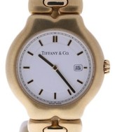 Tiffany & Co. Tesoro M0133 18K Yellow Gold White Dial 31mm Womens Watch