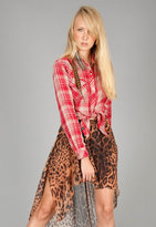 Kendra Button Down Shirt in Red Plaid - by Rails