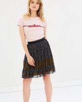 Maison Scotch Mixed Print Skirt