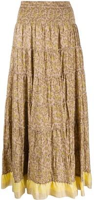 Steffen Schraut Leaf Print Skirt