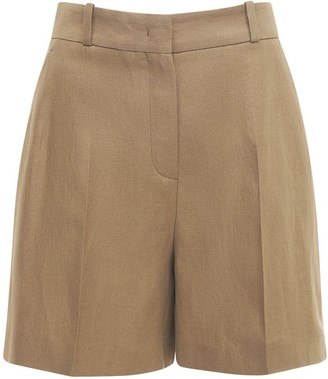 Loro Piana Linen Crepe Bermuda Shorts