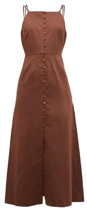 Cult Gaia Giana Cotton-blend Midi Dress - Womens - Brown