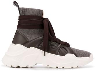 Agnona High-Top Wraparound Sneakers