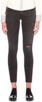 AG Jeans Distressed super-skinny low-rise jeans